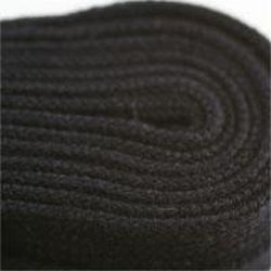 Poly Hockey Laces - Black (2 Pair Pack) Shoelaces from Shoelaces Express