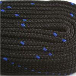 Poly Hockey Laces - Black/Royal Blue (2 Pair Pack) Shoelaces from Shoelaces Express