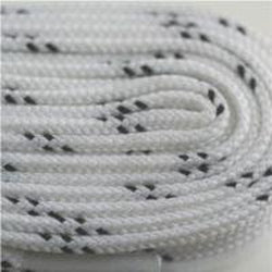 Poly Hockey Laces - White (2 Pair Pack) Shoelaces from Shoelaces Express