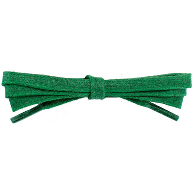 "Wholesale Waxed Cotton Flat Dress Laces 1/4"" - Kelly Green (12 Pair Pack) Shoelaces from Shoelaces Express"
