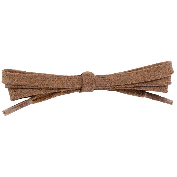 Waxed Cotton Flat Dress Laces 12 Pack - Light Brown (12 Pair Pack) Shoelaces from Shoelaces Express