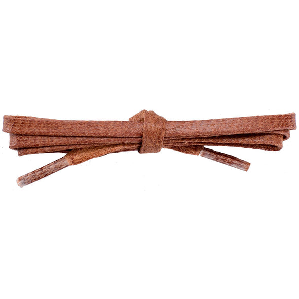 Waxed Cotton Flat Dress Laces - Cognac (2 Pair Pack) Shoelaces from Shoelaces Express