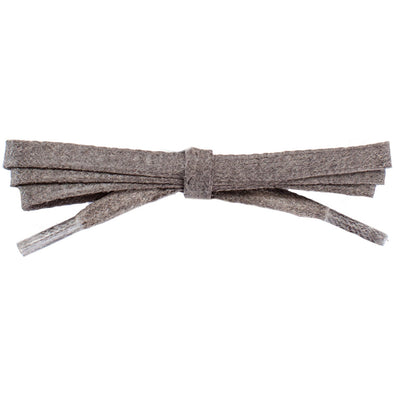 Waxed Cotton Flat Dress Laces 12 Pack - Taupe (12 Pair Pack) Shoelaces from Shoelaces Express
