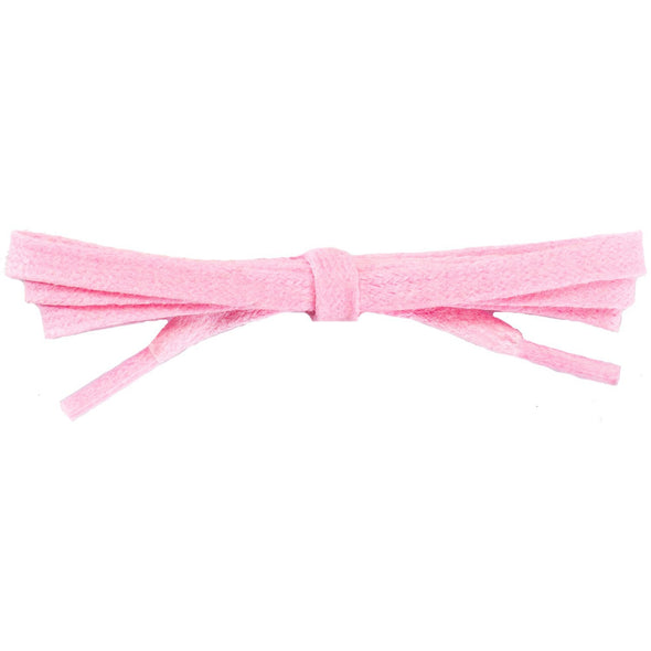 Waxed Cotton Flat Dress Laces - Pastel Pink (2 Pair Pack) Shoelaces from Shoelaces Express