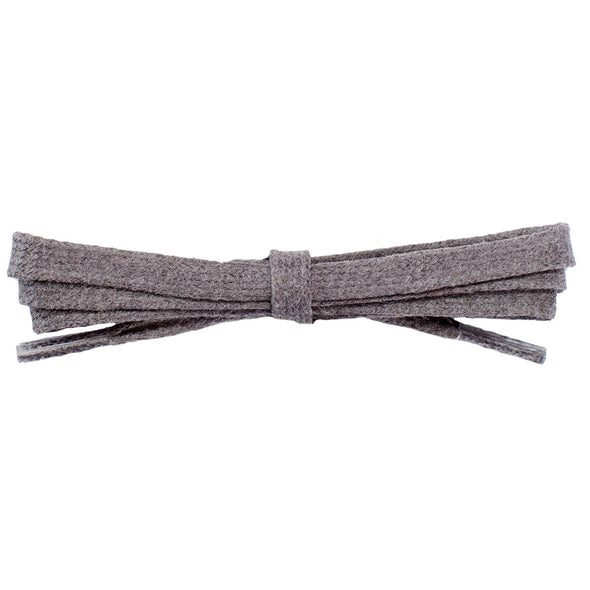 Waxed Cotton Flat Dress Laces - Dark Gray (2 Pair Pack) Shoelaces from Shoelaces Express