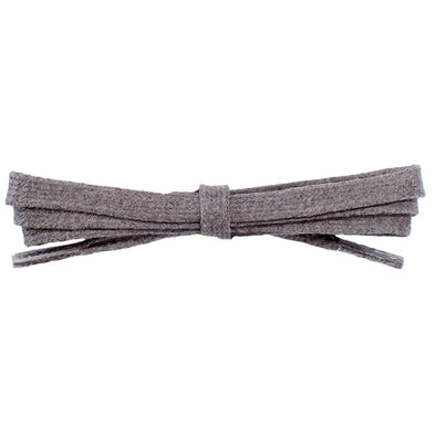 "Wholesale Waxed Cotton Flat Dress Laces 1/4"" - Dark Gray (12 Pair Pack) Shoelaces from Shoelaces Express"
