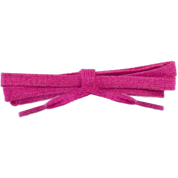 Waxed Cotton Flat Dress Laces - Fuchsia Red (2 Pair Pack) Shoelaces from Shoelaces Express