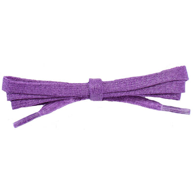 "Wholesale Waxed Cotton Flat Dress Laces 1/4"" - Pansy Purple (12 Pair Pack) Shoelaces from Shoelaces Express"