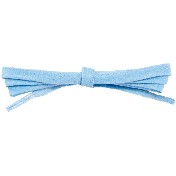 Waxed Cotton Flat Dress Laces - Light Blue (2 Pair Pack) Shoelaces from Shoelaces Express
