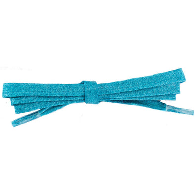 Waxed Cotton Flat Dress Laces - Turquoise (2 Pair Pack) Shoelaces from Shoelaces Express