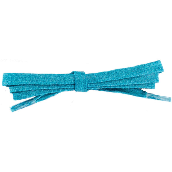 Waxed Cotton Flat Dress Laces 12 Pack - Turquoise (12 Pair Pack) Shoelaces from Shoelaces Express