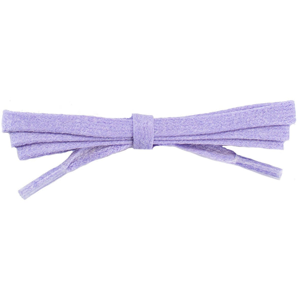 Waxed Cotton Flat Dress Laces - Violet (2 Pair Pack) Shoelaces from Shoelaces Express