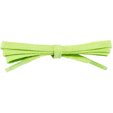 Waxed Cotton Flat Dress Laces 12 Pack - Lucky Lime (12 Pair Pack) Shoelaces from Shoelaces Express