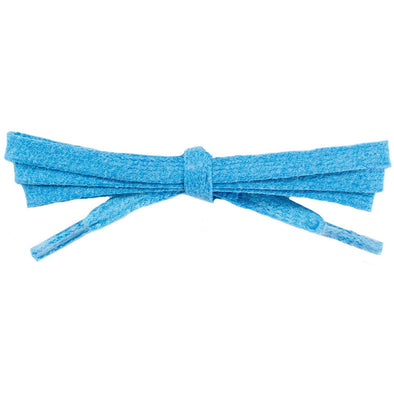 "Wholesale Waxed Cotton Flat Dress Laces 1/4"" - Neon Blue (12 Pair Pack) Shoelaces from Shoelaces Express"