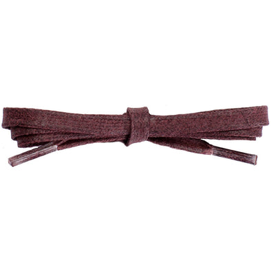 Waxed Cotton Flat Dress Laces 12 Pack - Burgundy (12 Pair Pack) Shoelaces from Shoelaces Express