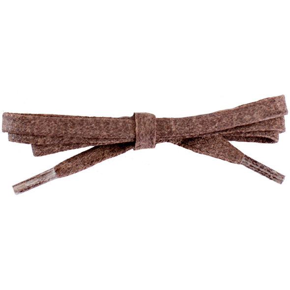 Waxed Cotton Flat Dress Laces - Brown (2 Pair Pack) Shoelaces from Shoelaces Express