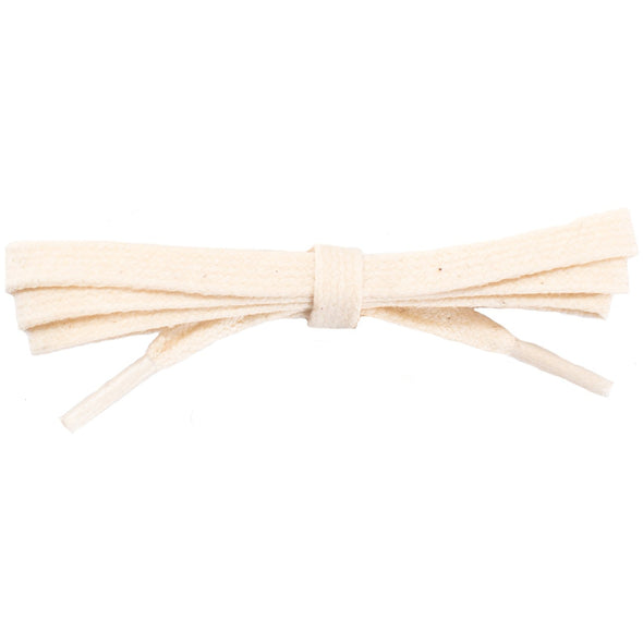 Spool - Waxed Cotton Flat Dress - Natural White (100 yards) Shoelaces from Shoelaces Express