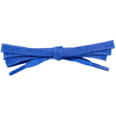 "Wholesale Waxed Cotton Flat Dress Laces 1/4"" - Royal Blue (12 Pair Pack) Shoelaces from Shoelaces Express"