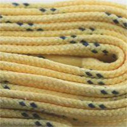 Poly Hockey Waxed Laces - Maize (2 Pair Pack) Shoelaces from Shoelaces Express
