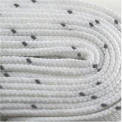 Poly Hockey Waxed Laces - White (2 Pair Pack) Shoelaces from Shoelaces Express