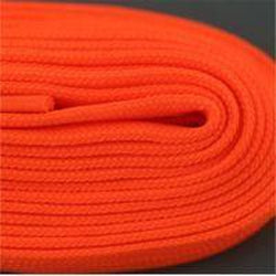 Figure Skate Laces - Neon Orange (2 Pair Pack) Shoelaces from Shoelaces Express