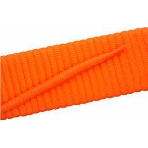 Oval Athletic Laces - Neon Orange (2 Pair Pack) Shoelaces from Shoelaces Express