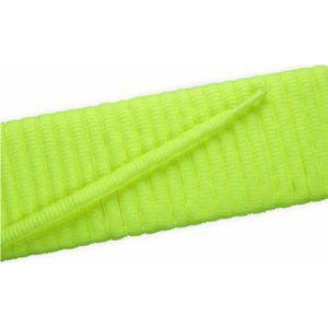 Oval Athletic Laces - Neon Yellow (2 Pair Pack) Shoelaces from Shoelaces Express