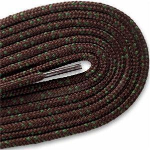Hikers Heavy Duty Boot Laces - Brown/Moss Green (2 Pair Pack) Shoelaces from Shoelaces Express