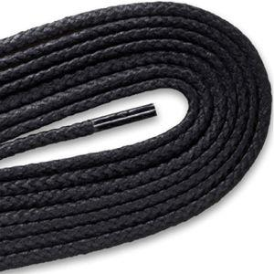 Boot/High Top Waxed Laces - Black (2 Pair Pack) Shoelaces from Shoelaces Express