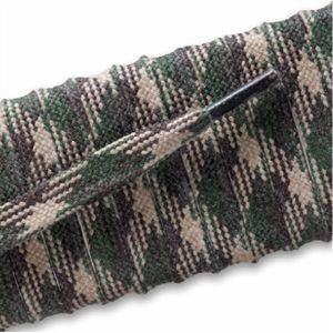 Flat Waxed Boot Laces - Camouflage (2 Pair Pack) Shoelaces from Shoelaces Express