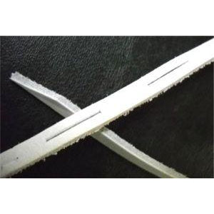 Lacrosse Leather Straps White 24""