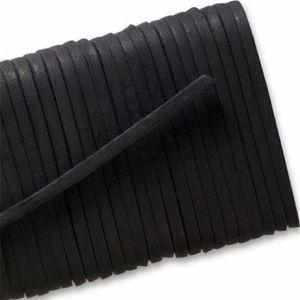 Square Leather Laces - Black (1 Pair Pack) Shoelaces from Shoelaces Express