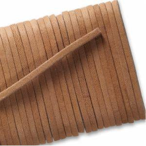 Square Leather Laces - Tan (1 Pair Pack) Shoelaces from Shoelaces Express