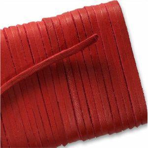 Square Leather Laces - Scarlet Red (1 Pair Pack) Shoelaces from Shoelaces Express