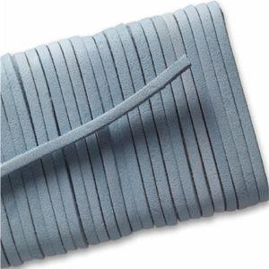 Square Leather Laces - Light Blue (1 Pair Pack) Shoelaces from Shoelaces Express