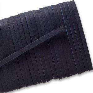 Square Leather Laces - Midnight Blue (1 Pair Pack) Shoelaces from Shoelaces Express