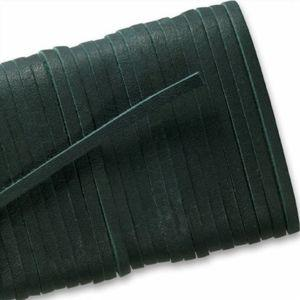 Square Leather Laces - Forest Green (1 Pair Pack) Shoelaces from Shoelaces Express