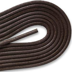 Round Smooth Leather Laces - Dark Brown (1 Pair Pack) Shoelaces from Shoelaces Express