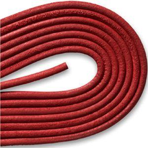 Round Smooth Leather Laces - Red (1 Pair Pack) Shoelaces from Shoelaces Express