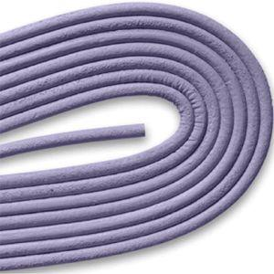 Round Smooth Leather Laces - Lilac (1 Pair Pack) Shoelaces from Shoelaces Express