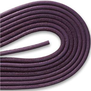 Round Smooth Leather Laces - Dark Purple (1 Pair Pack) Shoelaces from Shoelaces Express