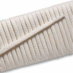 "ECCO 7/32"" Flat Waxed Cotton Laces - Icewhite (1 Pair Pack) Shoelaces from Shoelaces Express"
