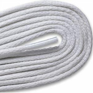Waxed Thin Round Dress Laces - White (2 Pair Pack) Shoelaces from Shoelaces Express