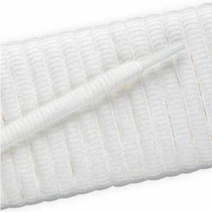 New Balance Oval Athletic Laces - White (2 Pair Pack) Shoelaces from Shoelaces Express