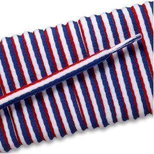 New Balance Oval Athletic Laces - Red/White/Blue Stripe (2 Pair Pack) Shoelaces from Shoelaces Express