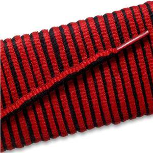 New Balance Oval Athletic Laces - Black/Red Stripe (2 Pair Pack) Shoelaces from Shoelaces Express
