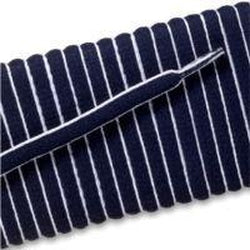 New Balance Oval Athletic Laces - Navy/White Pipe (2 Pair Pack) Shoelaces from Shoelaces Express