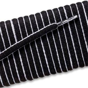 New Balance Oval Athletic Laces - Black/White Pipe (2 Pair Pack) Shoelaces from Shoelaces Express