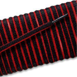 New Balance Oval Athletic Laces - Black/Red Pipe (2 Pair Pack) Shoelaces from Shoelaces Express