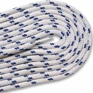New Balance Round Athletic Laces - White/Royal Blue (2 Pair Pack) Shoelaces from Shoelaces Express